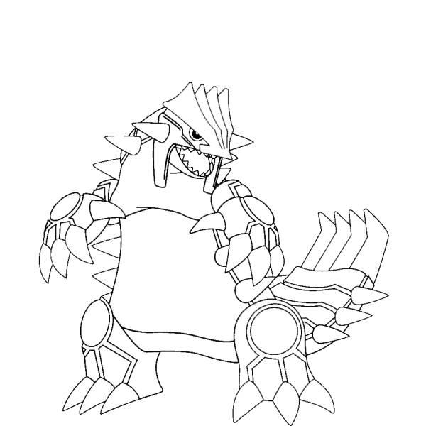 Disegno di Pokemon Groudon da colorare