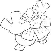 disegno di Pokemon Hariyama da colorare