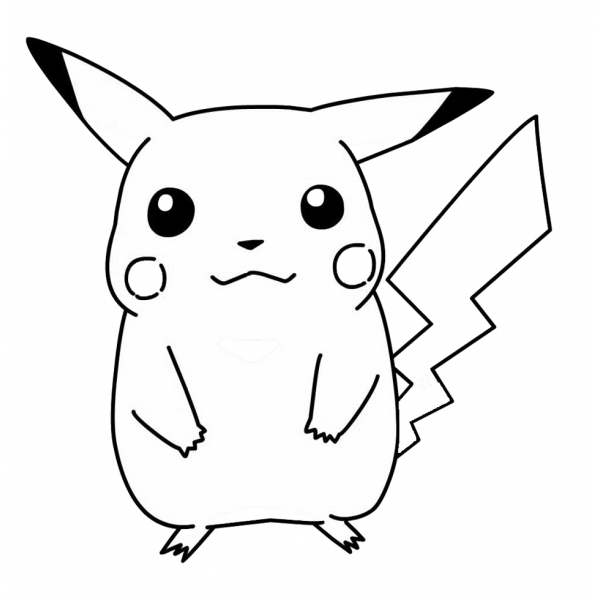 Disegno di Pokemon Pikachu da colorare
