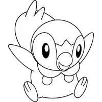 disegno di Pokemon Piplup da colorare
