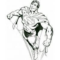 Disegno di Superman che Vola da colorare