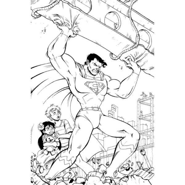 Disegno di Superman Supereroe da colorare