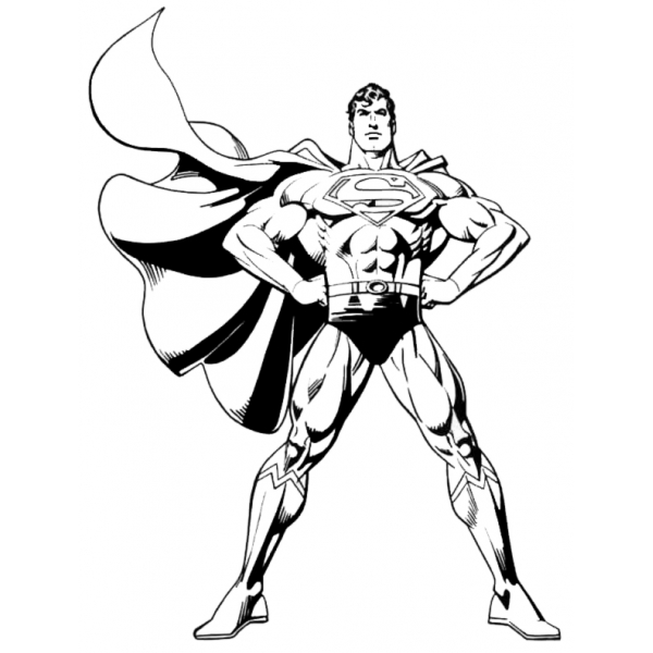Disegno Di Superman Da Colorare Per Bambini