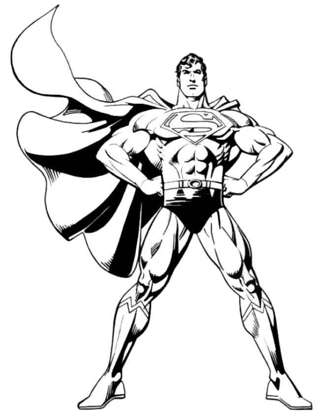 underdog coloring pages - disegno di superman da colorare per bambini