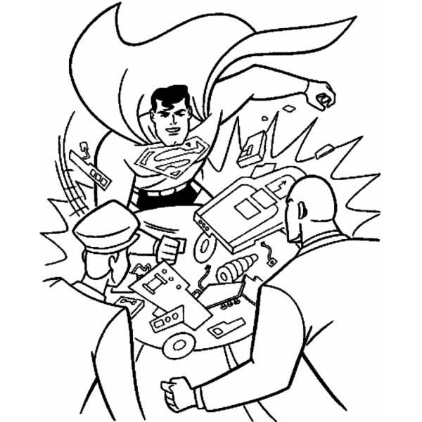 Disegno Di Superman Fumetto Da Colorare Per Bambini