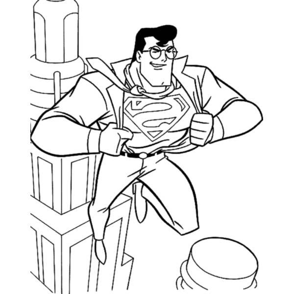 Disegno di Superman Clark Kent da colorare