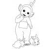 disegno di Teletubbies e Coniglietti da colorare