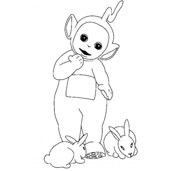 Disegno Di Teletubbies E Coniglietti Da Colorare Per Bambini