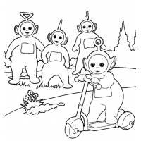disegno di Teletubbies al Parco da colorare
