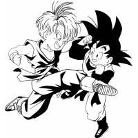 Disegno di Trunks e Goku da colorare