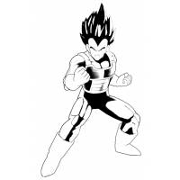 Disegno di Vegeta Dragon Ball da colorare