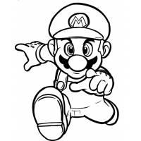 Disegno di Super Mario Bros da colorare