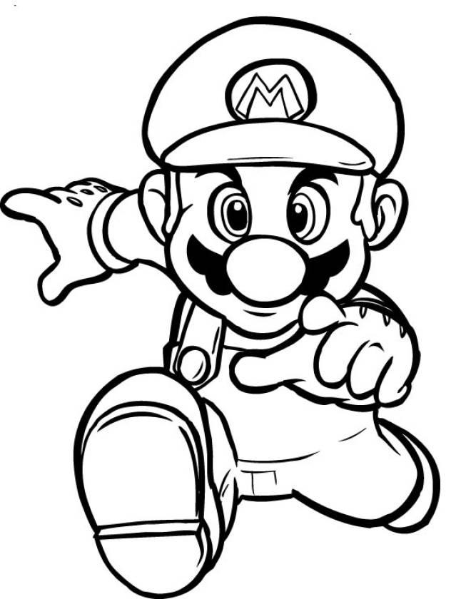 Disegno Di Super Mario Bros Da Colorare Per Bambini Disegnidacolorareonline Com