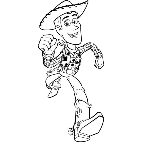 Disegno di Woody Toy Story da colorare