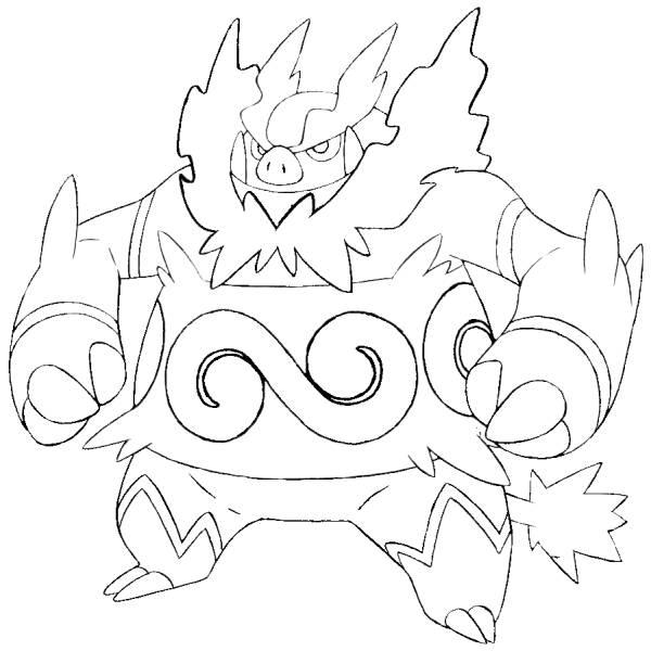 Disegno di Emboar Pokemon da colorare