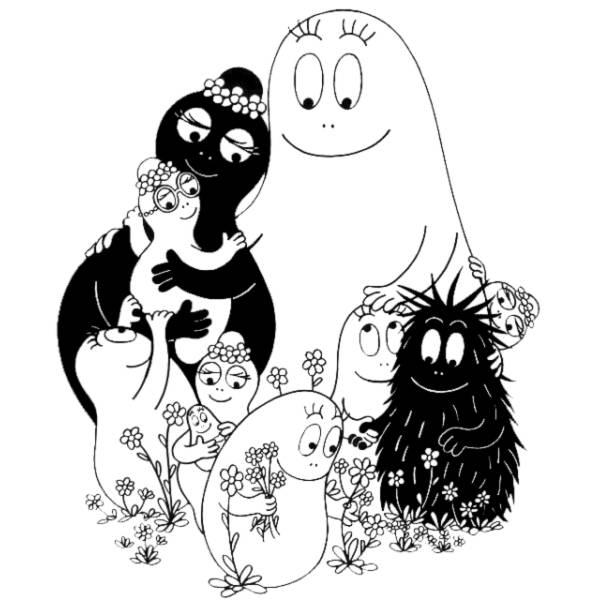 Disegno di La Famiglia Barbapapà da colorare