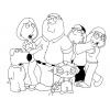 disegno di Famiglia Griffin da colorare