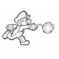 disegno di Mario Bros Palla di Fuoco da colorare