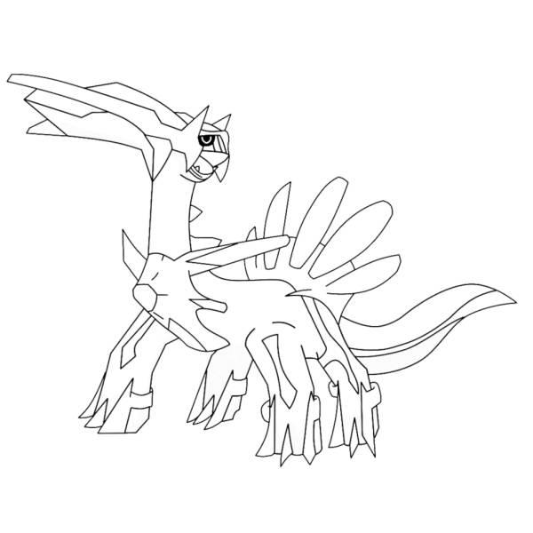 Disegni Da Colorare Di Pokemon.Disegno Di Pokemon Dialga Da Colorare Per Bambini