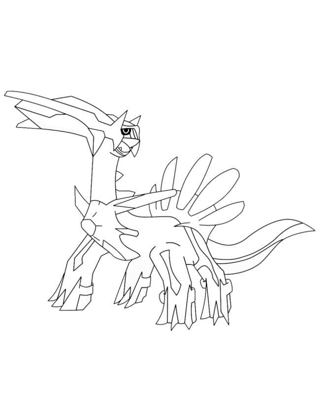 Stampa disegno di pokemon dialga da colorare for Dialga coloring pages