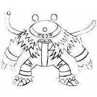 disegno di Pokemon Electivire da colorare