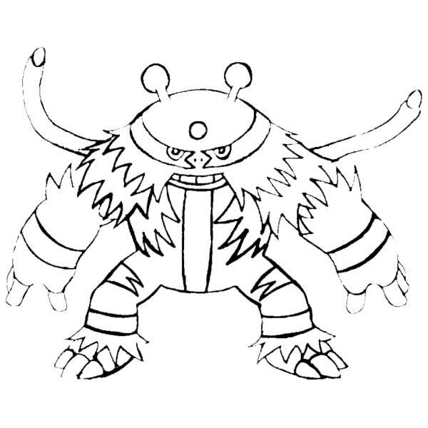 Disegno Di Pokemon Electivire Da Colorare Per Bambini