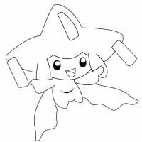 disegno di Pokemon Jirachi da colorare