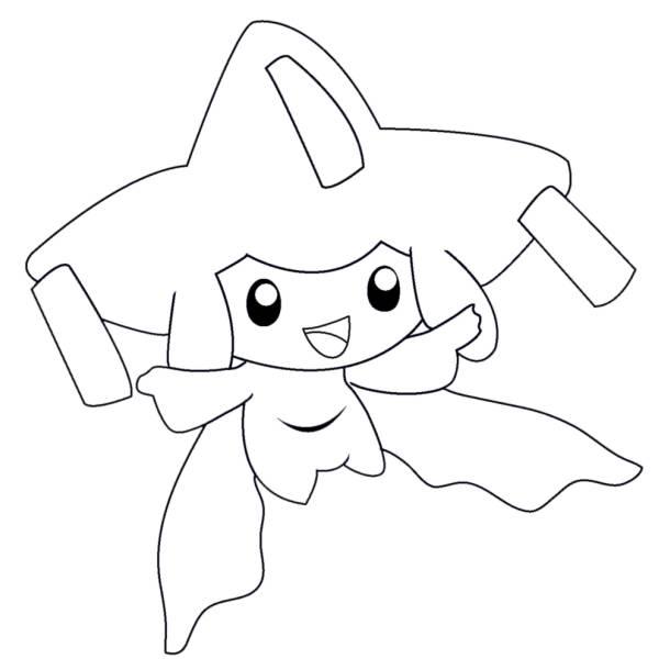 Disegno di pokemon jirachi da colorare per bambini