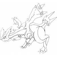 Disegno di Pokemon Kyurem da colorare