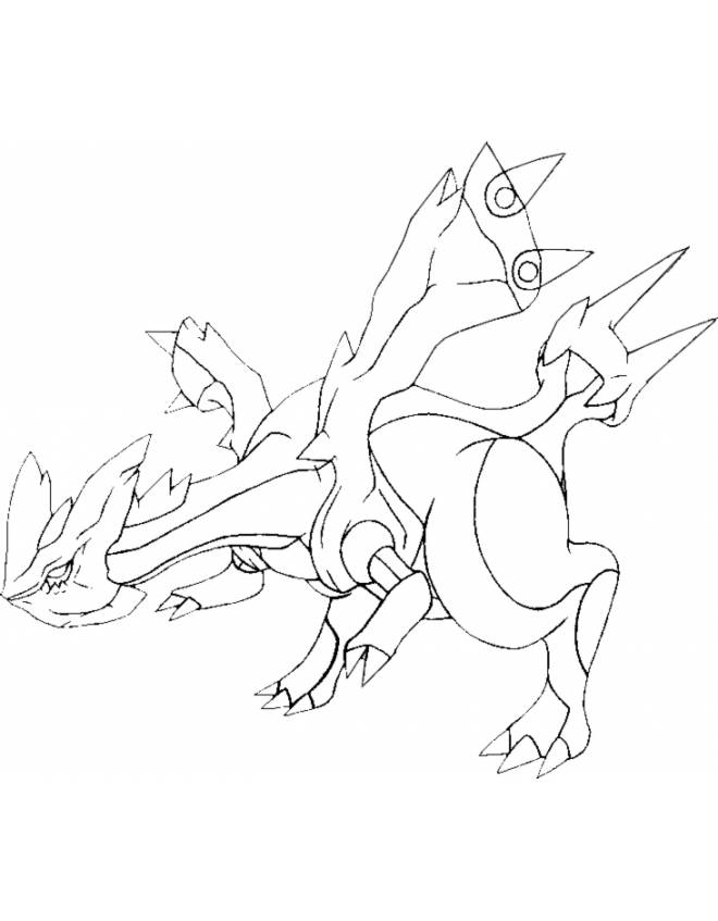 Kyurem Pokemon Coloring Pages Images
