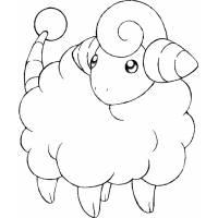 disegno di Pokemon Mareep da colorare