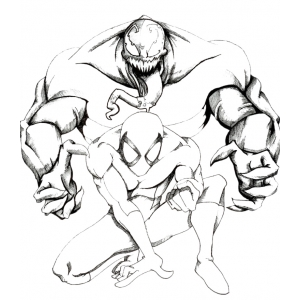 Disegno di spiderman supereroe da colorare per bambini for Disegni di spiderman da colorare