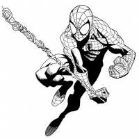 Disegno di Spiderman L'Uomo Ragno da colorare