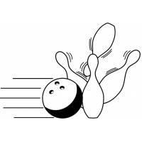Disegno di Bowling da colorare