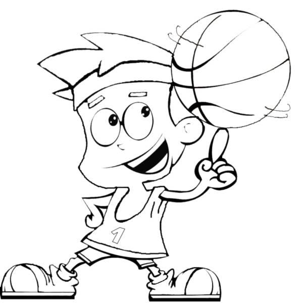 Disegno Di Basket Da Colorare Per Bambini Disegnidacolorareonline Com