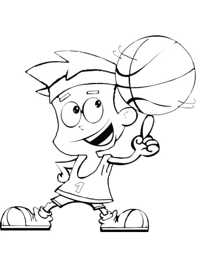 Disegno di basket da colorare per bambini - Immagini sportive da stampare ...