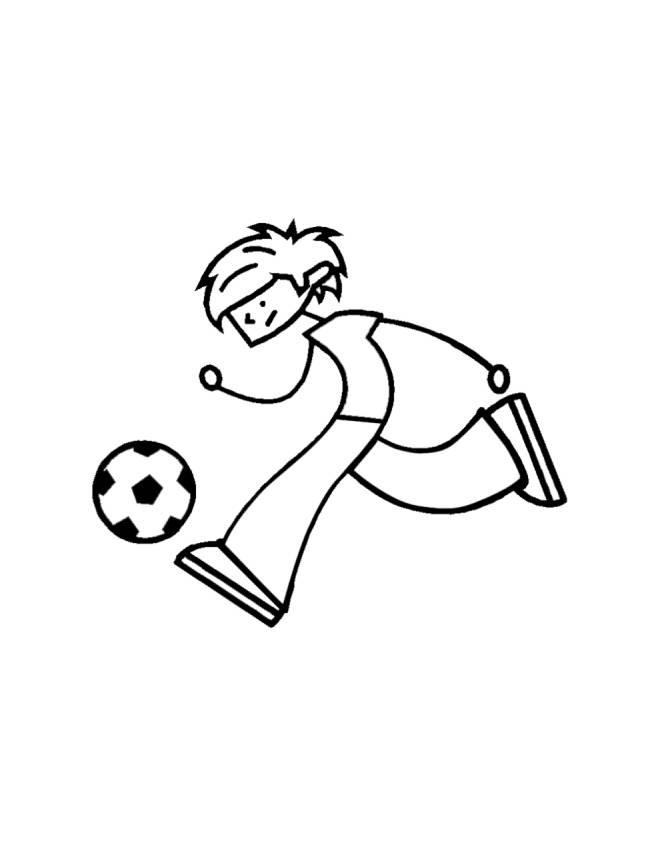 Disegno di calciatore da colorare per bambini for Calciatori da colorare per bambini