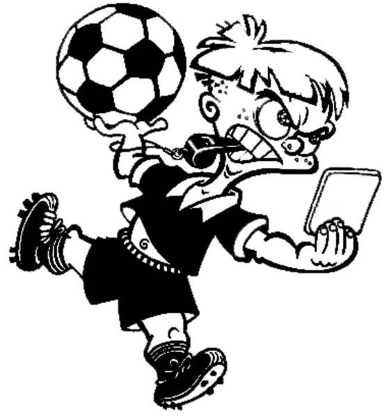 Disegno di arbitro calcio da colorare per bambini