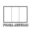 disegno di Bandiera Italia Forza Azzurri da colorare