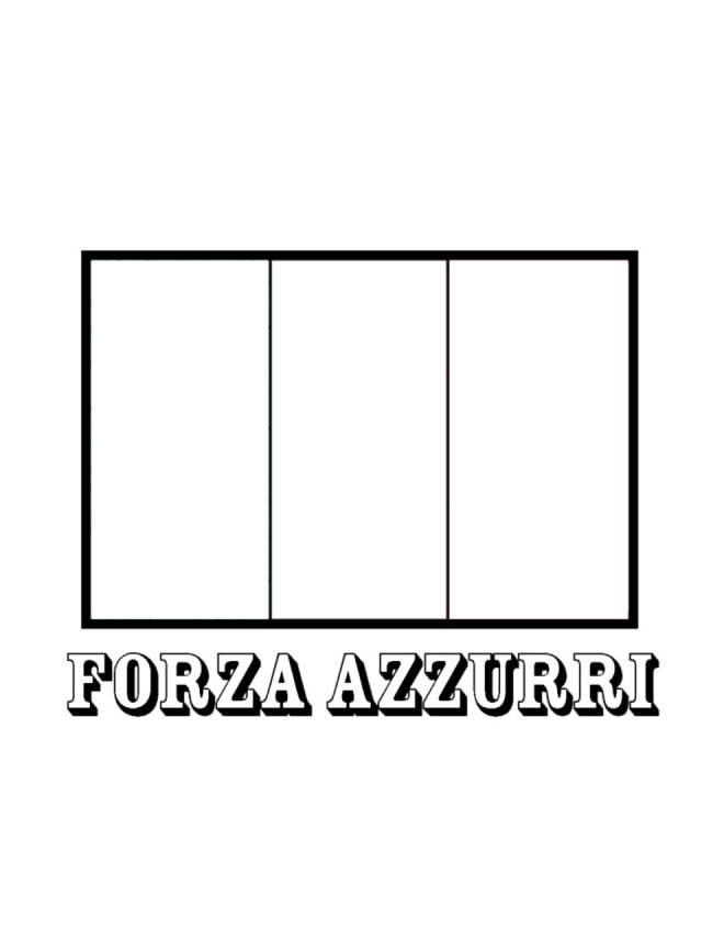 Disegno Di Bandiera Italia Forza Azzurri Da Colorare Per Bambini Disegnidacolorareonline Com