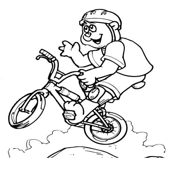 Bicicletta Disegno Da Colorare.Disegno Di Mountain Bike Da Colorare Per Bambini