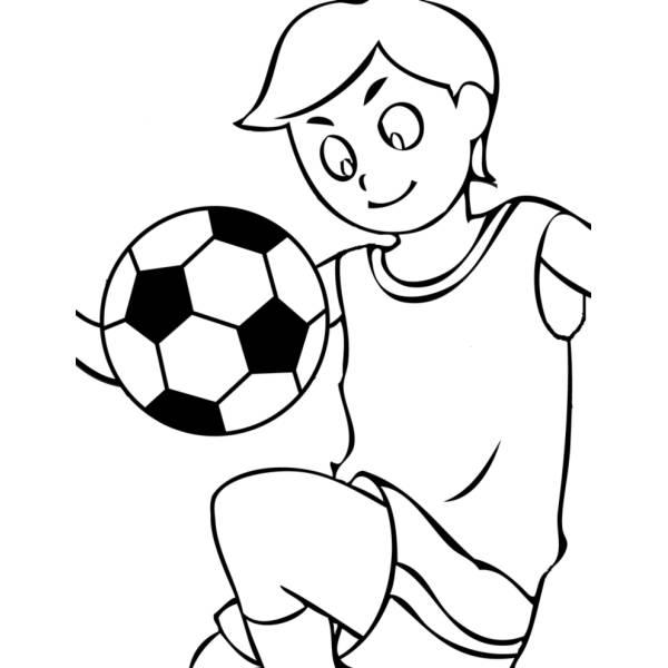 Disegno Di Palleggi Con Pallone Da Colorare Per Bambini