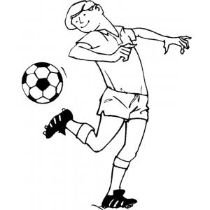 Disegno di colpo di tacco da colorare per bambini gratis - Pagina da colorare di un pallone da calcio ...