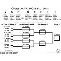 disegno di Calendario Mondiali 2014 da colorare