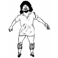 Disegno di Diego Armando Maradona da colorare