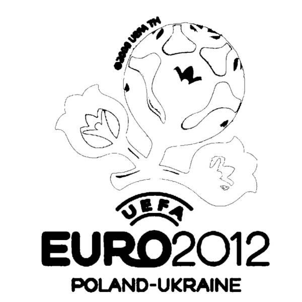 Disegno di Europei Ucraina Polonia da colorare