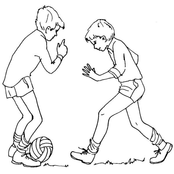Disegno di Giocare a Calcio da colorare