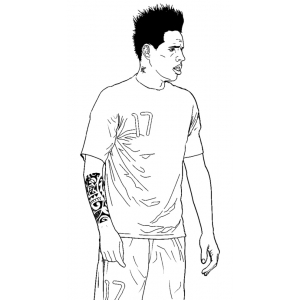 leo messi coloring pages