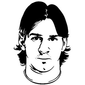 Disegno di Lionel Messi da colorare