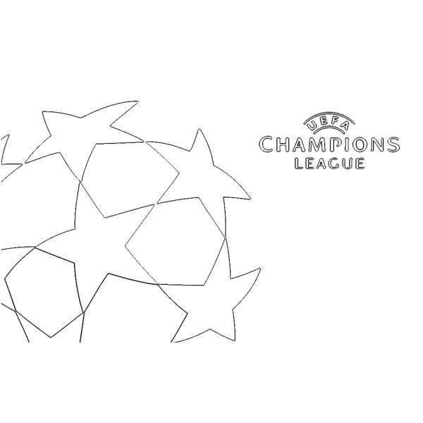 Disegno Di Logo Uefa Champions League Da Colorare Per